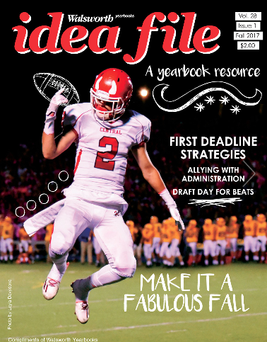 El Diablo's talented staff collaborates to create nationally-recognized yearbooks. This fall, senior photographer Katy Wang's photo was featured on the Fall 2017 cover of Idea File, Walsworth's magazine for yearbook inspiration.