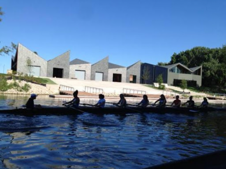The WMS Boathouse at Clark Playlot Park attracts many rowers of all ages and fitness levels.