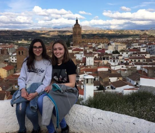 Graduate Anna Brown and Spanish student, Carmen Cifci, visit various sites in Guadix.