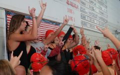 Girls swim and dive seniors honored