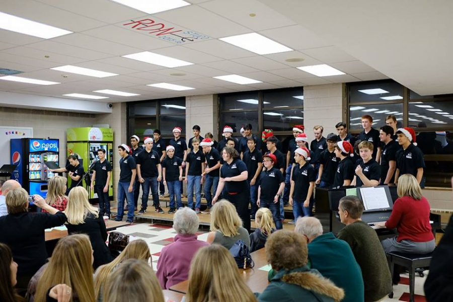 The men's choir group, Acafellas, will be performing modern songs such as