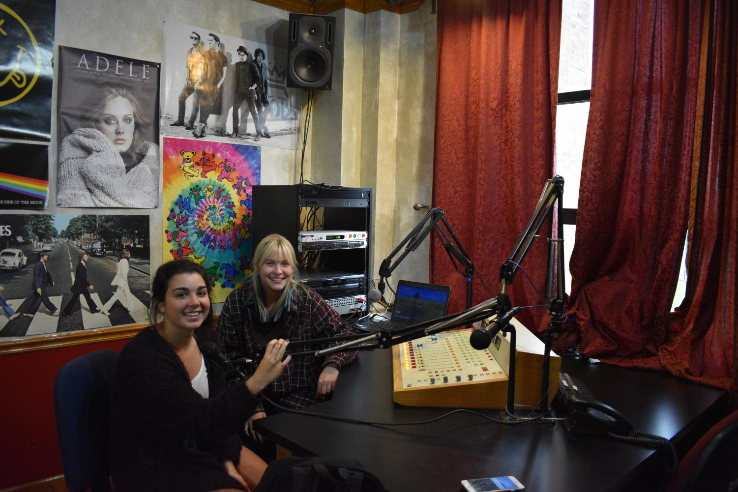 Grace Doyle and Marissa Rohan, seniors, have their own show where they broadcast local Chicago bands.