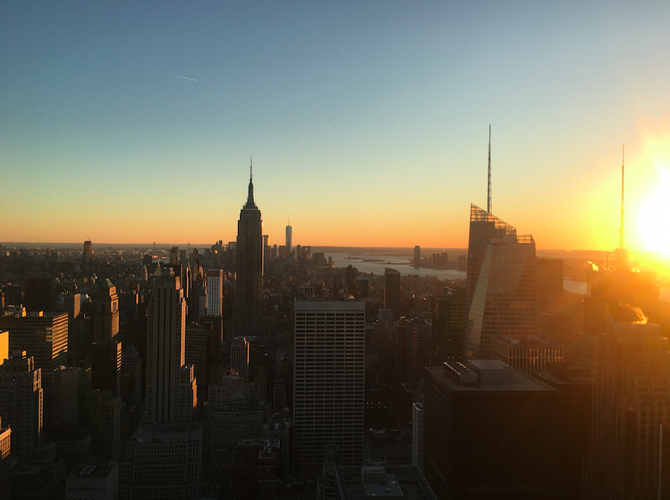 The New York trip allowed me to experiment with style all around the city, including sights like the Top of the Rock.