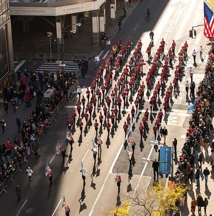 The band marched in New York on Veterans Day in 2013, and this year they are able to go on the same trip again.
