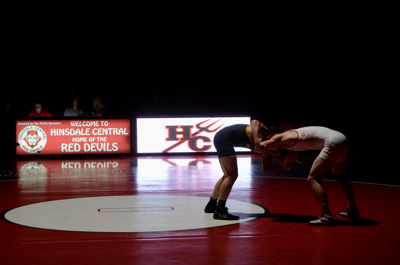On Thursday, Nov. 30, the wrestling team versed Hinsdale South's wrestling team in the main gym.