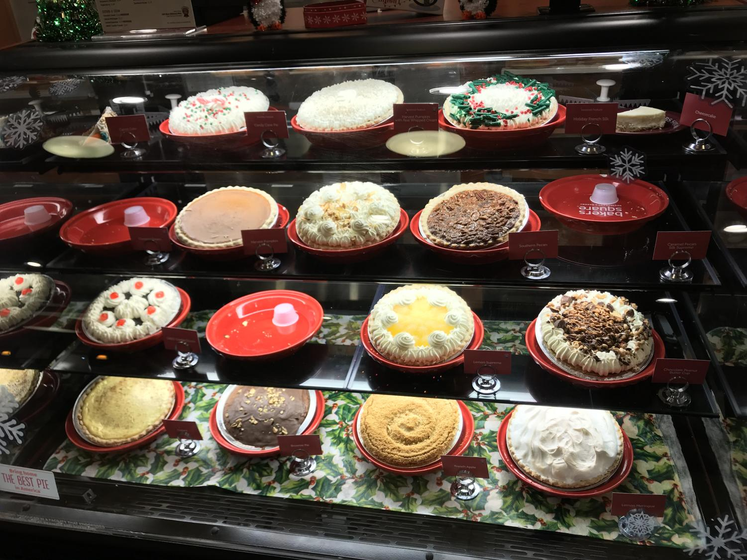 Bakers Square offers a variety of pies for holiday celebrations.
