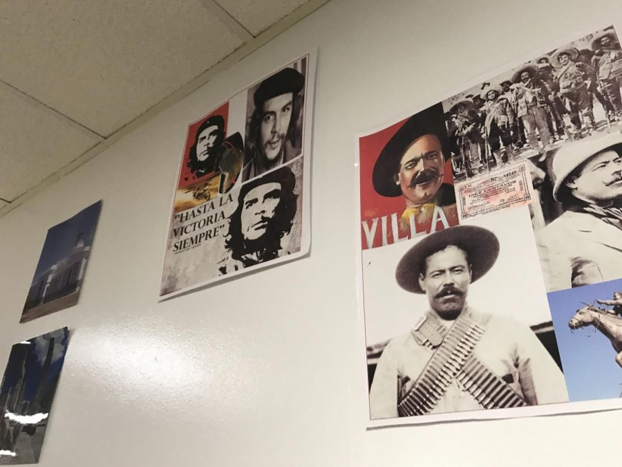 Throughout the foreign language hallway, posters expose students to important historical figures of different cultures.