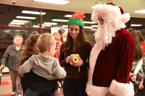 On Friday, Dec. 8, Varsity Club and NHS hosted the annual Clubs That Care event, complete with food, games, and Santa.