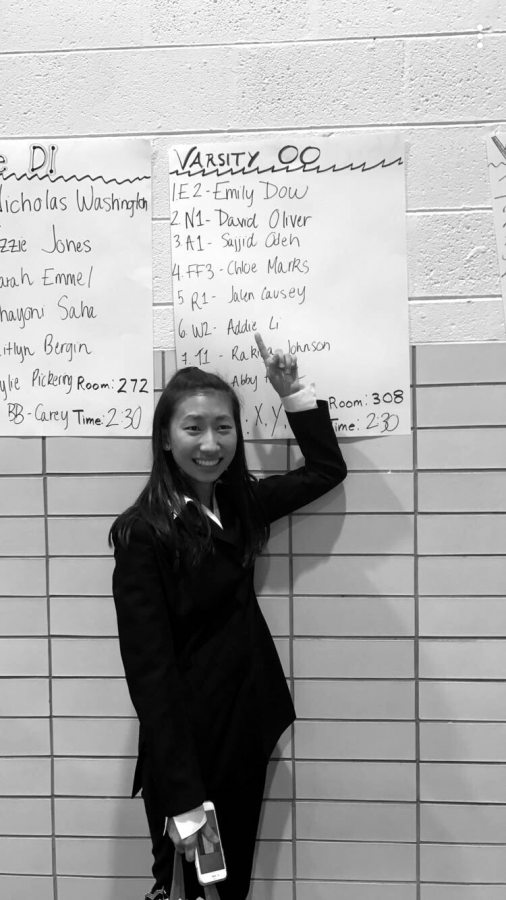 Li placed among varsity competitors during her first tournament.