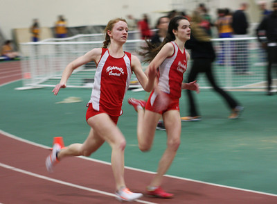 Track and field meets often are intense, with teammates crowding the sidelines during events to cheer runners on.