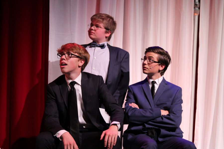 Alex Martin, far left, is seen acting in