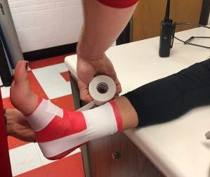 Students who have an injury can go see one of the trainers before or after their practice to receive ice or get a body part wrapped due to an injury.
