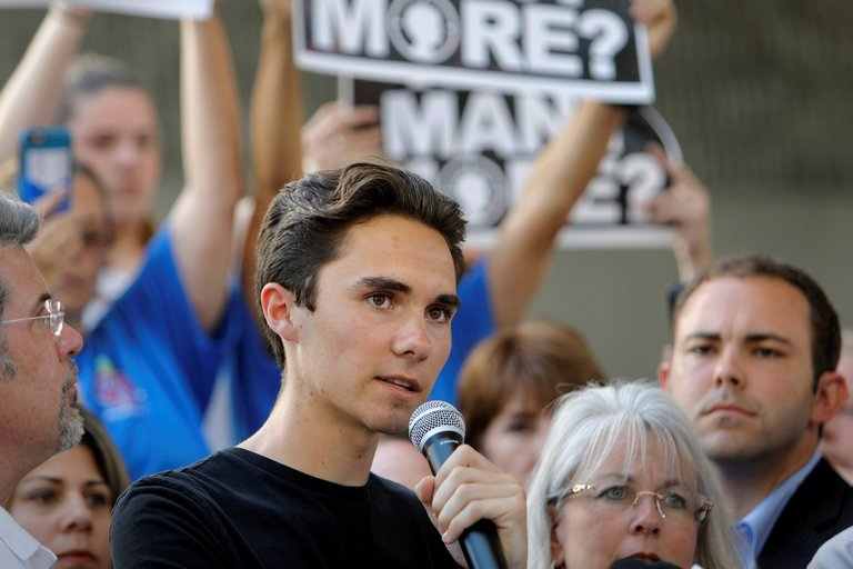 Since the shooting, MSDHS students such as David Hogg (pictured) have pushed for stronger gun restrictions. However, some see this as a violation of constitutional rights.