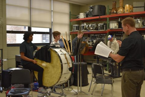 Concert percussion is one of the many music classes offered at school. Outside of school, these students practice just as much as athletes.