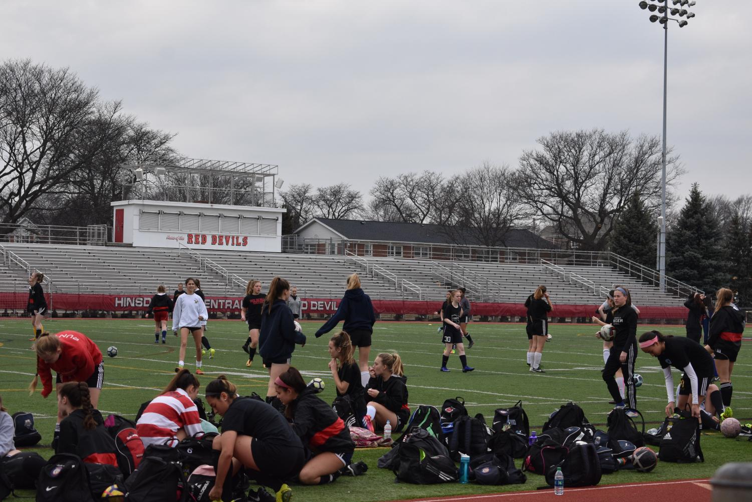 Soccer, along with many other spring sports, held tryouts this week.