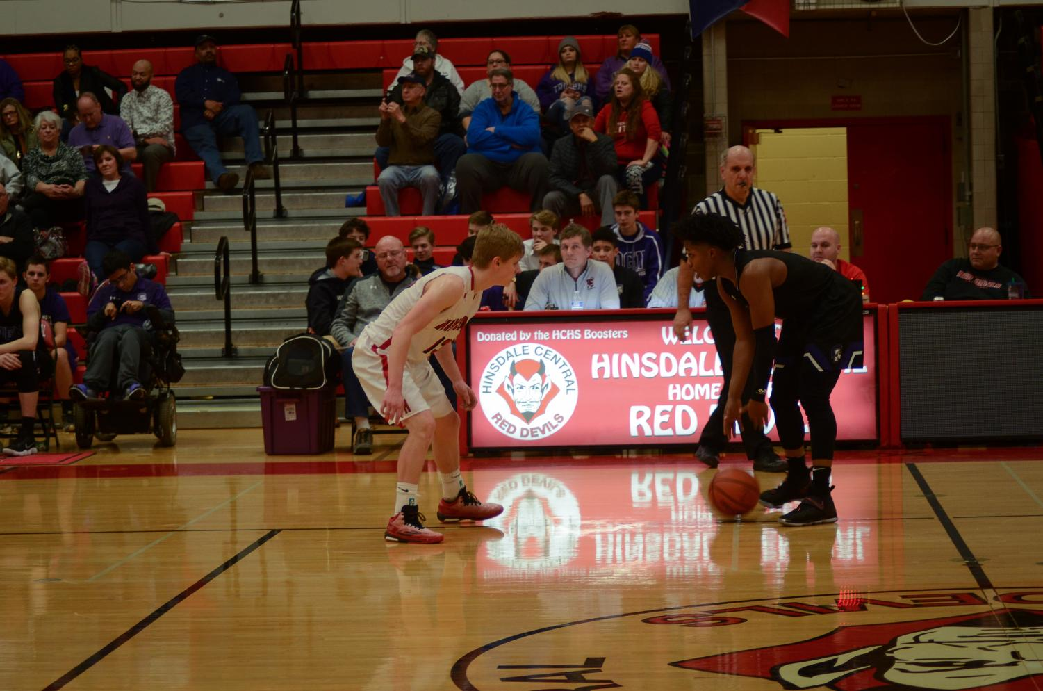 On Friday, Feb. 16, the boys varsity basketball team played against Downers Grove North. It was also Senior Night, a night where senior basketball players, pommers, and cheerleaders are honored because it was the last home game.
