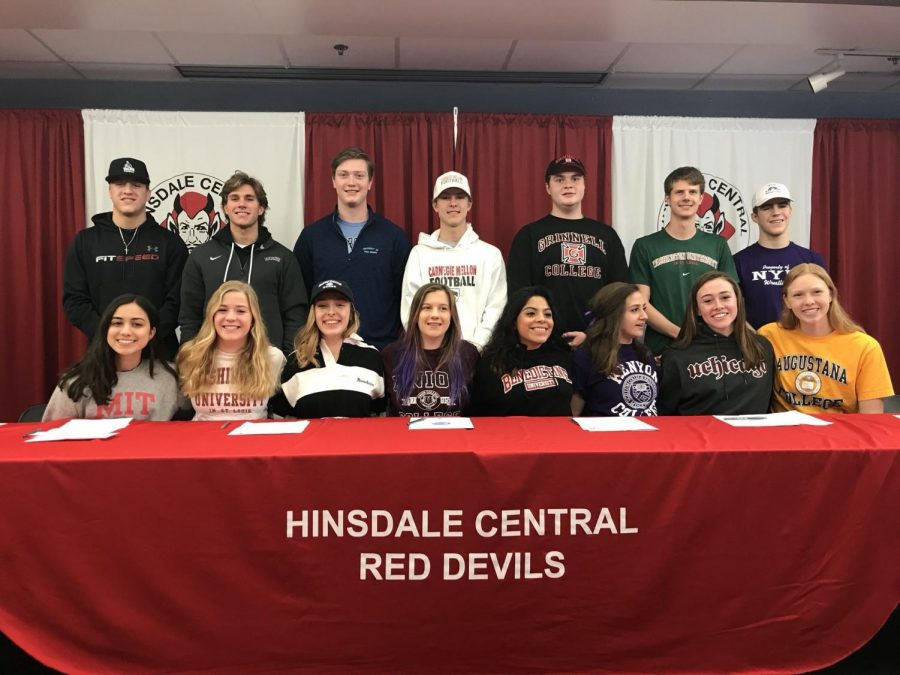 With the school's second signing day of the year, many more seniors committed to pursue their athletic and academic careers at various colleges.