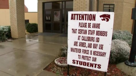 Each day, students who are part of the Callisburg Independent School District pass signs like this on their way into the building. This could become a reality for many students across the U.S.