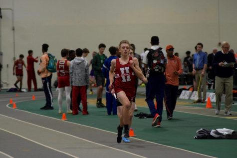 On Friday, March 16, the boys varsity track and field team competed in the West Suburban Silver Conference meet at York High School. The junior varsity team's conference meet was the next day, Saturday, March 17.