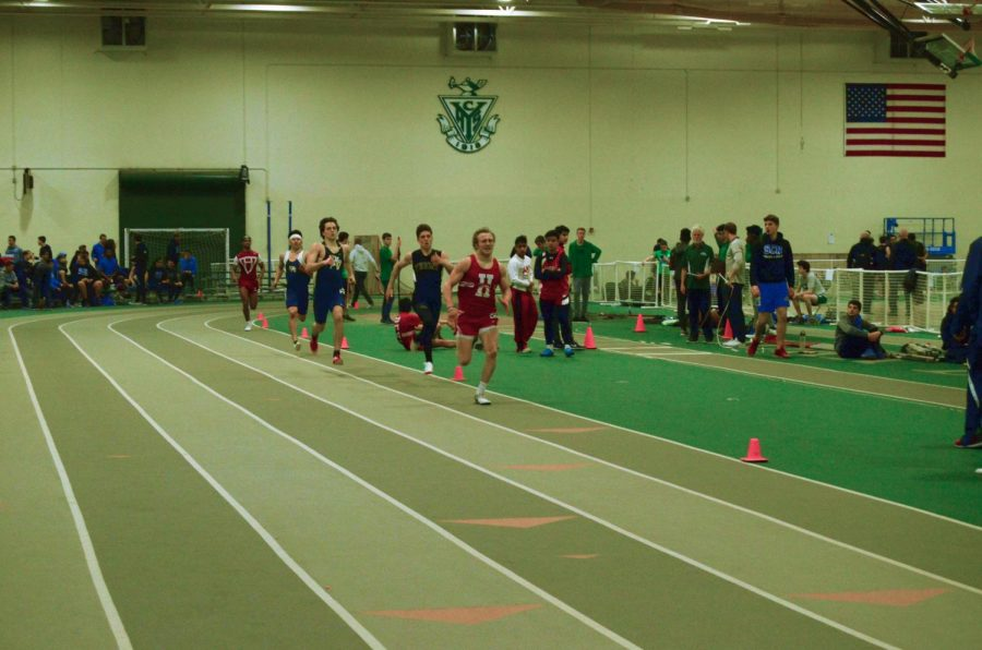 On+Saturday%2C+March+10%2C+the+boys+track+and+field+team+traveled+to+York+High+School+to+participate+in+a+competitive+meet+against+multiple+teams.+