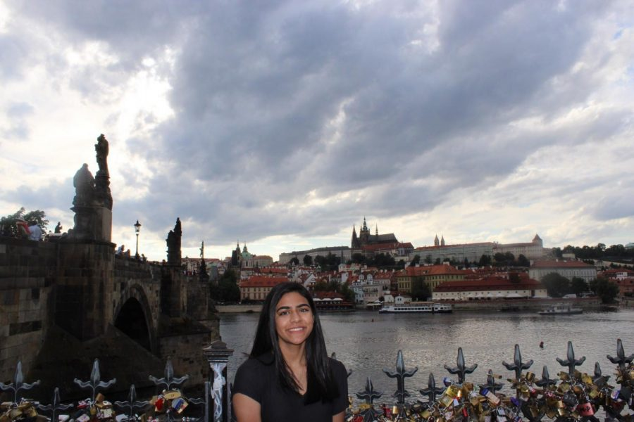 Ameera Ilyas, junior, visited Prague this summer and took this picture with the unique architecture in the heart of the city.