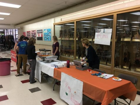 Tables were set up across the cafeteria for the fundraiser put on by various world language clubs.