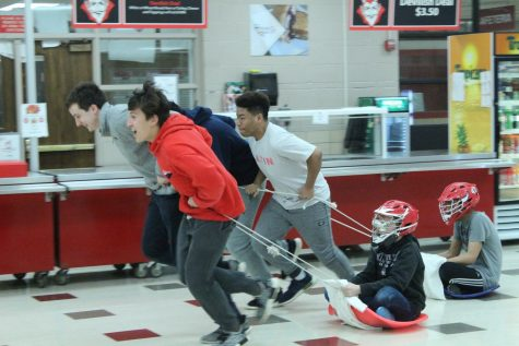 On Thursday, March 1, Latin Club held its annual Lupercalia festival after school in the cafeteria. Participants took part in a variety of events celebrating Roman culture.