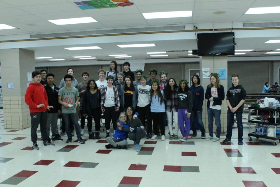 On Thursday, March 1, Latin Club held its annual Lupercalia festival after school in the cafeteria. Participants enjoyed a variety of events celebrating Roman culture.