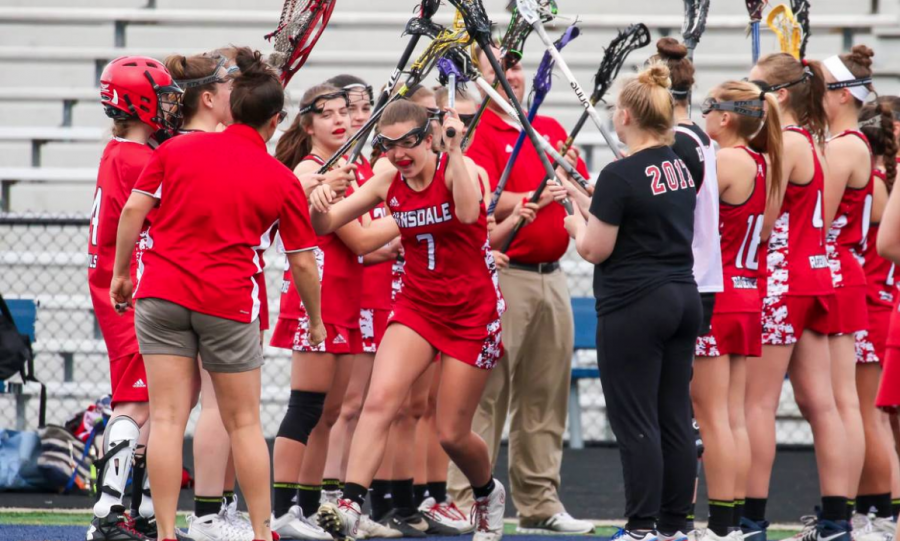 The girls lacrosse team pulled off a 20-5 win against the Huskies.