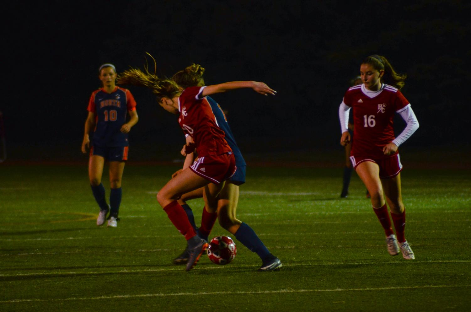 On Saturday, April 7, girls varsity soccer faced off against Evanston High School at the North Shore Invite.