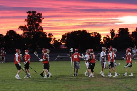 Boys' lacrosse celebrates win on senior night