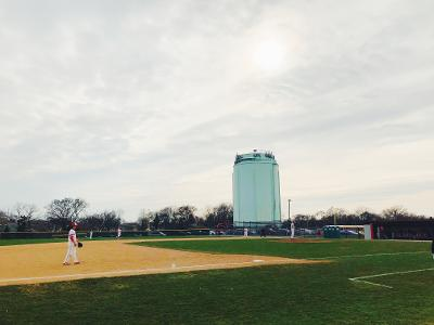 The Hinsdale Central Varsity baseball team plays against Proviso West High School on April 23rd, 2018 led by Head Coach Ziemer, won by the Red Devils..