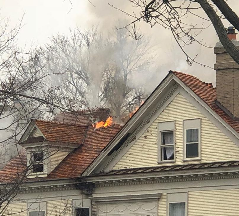 The fire burned different spots in the house, from the roof, to the third floor, all the way down to the basement.