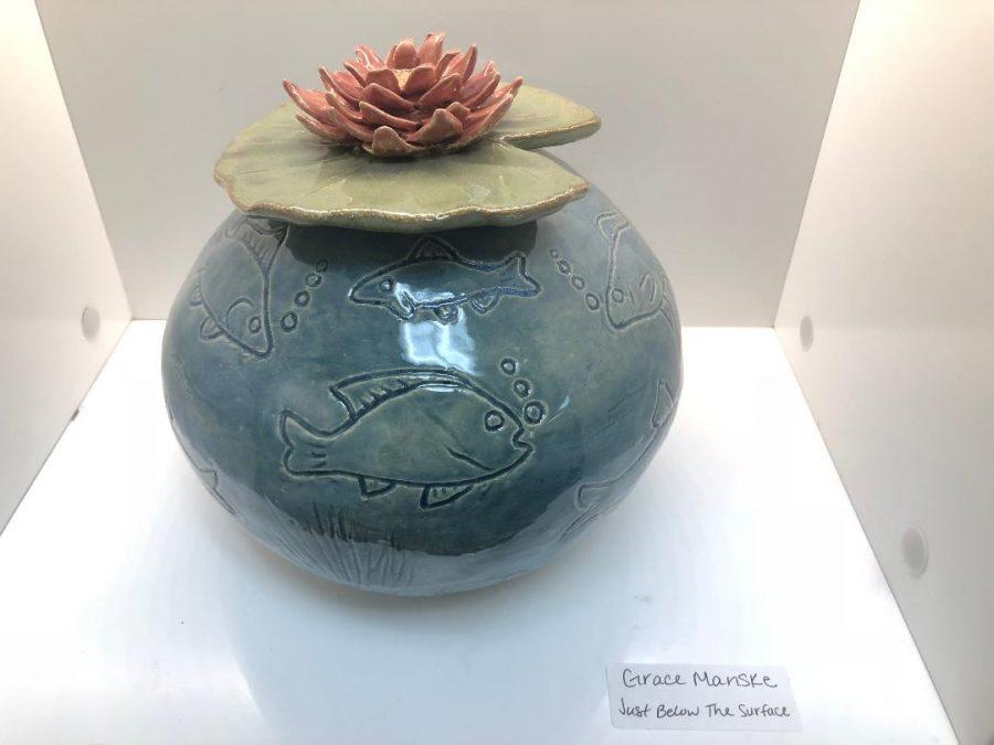For her art piece Grace Manske titled her art Just Below The Surface.
