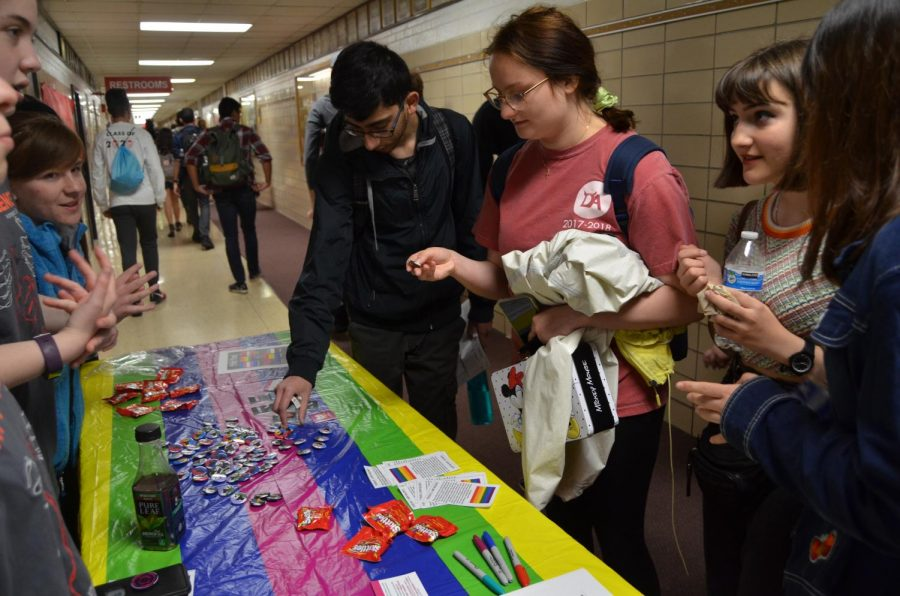 On Friday, April 27, the GSA club held their annual Day of Silence. Students could choose to wear pins and not speak for the day to bring attention to the silence faced by LGBT youth.