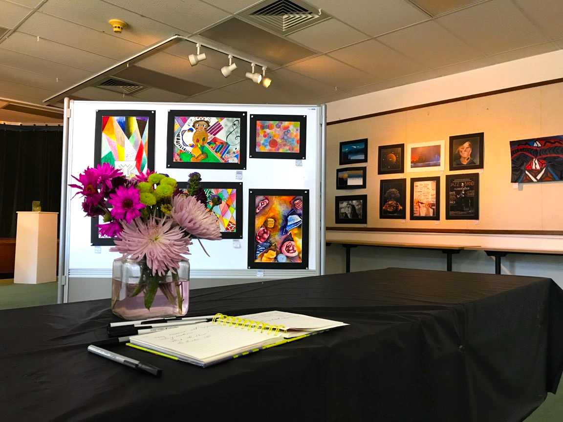 The Art Department held the show from May 14 to May 18 in room 216.