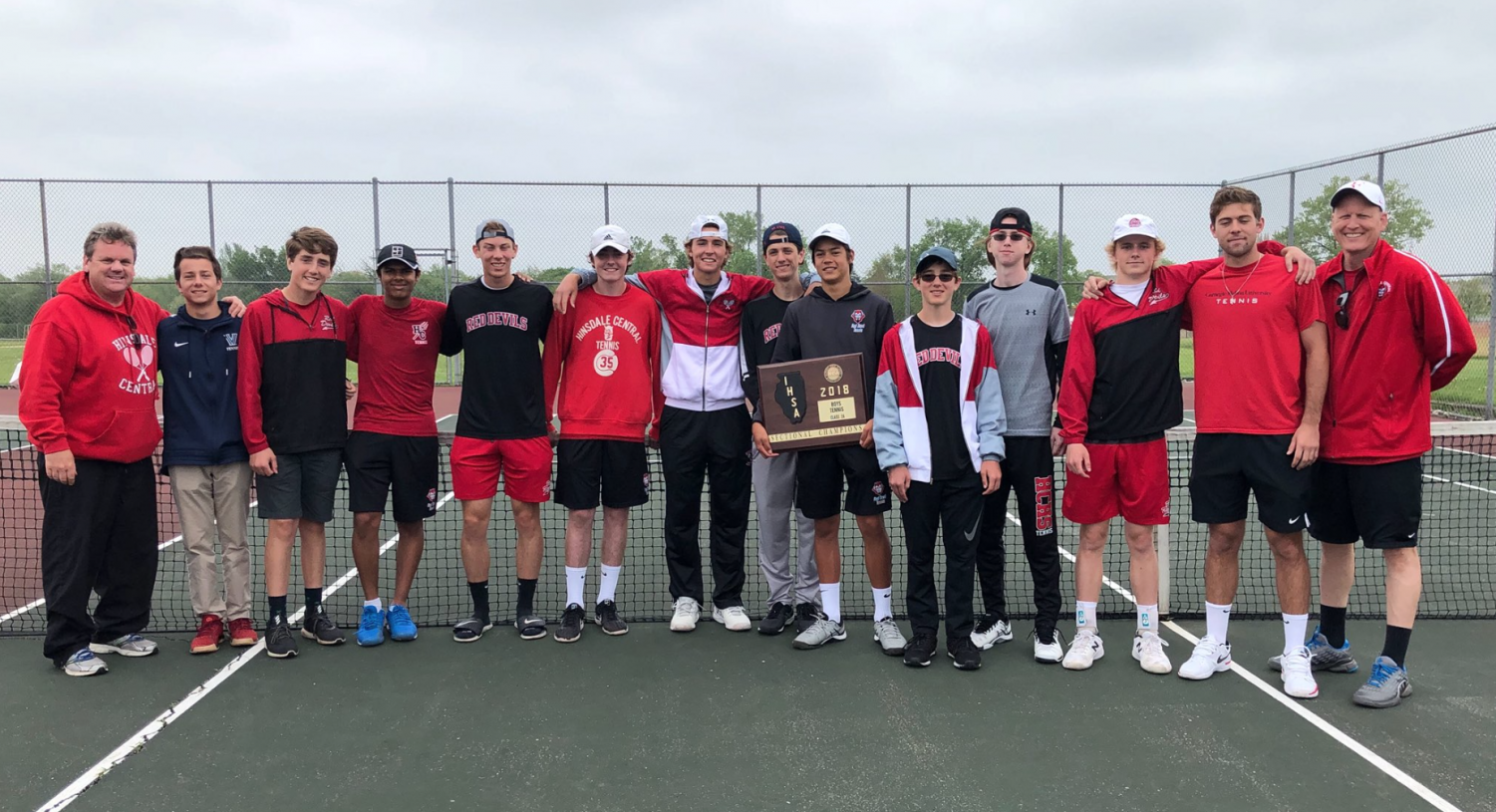 The variety tennis team advanced to the state finals after placing first at sectionals on May 18.
