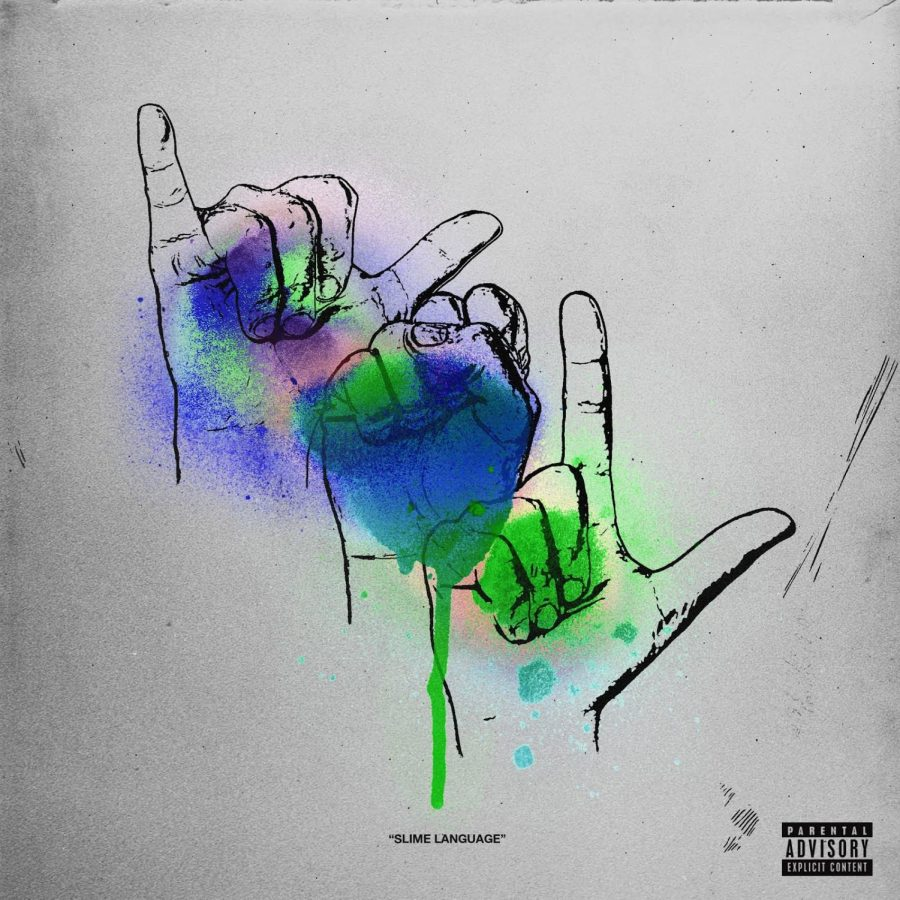The album cover to Slime Language is unique, as it spells YSL in sign language.