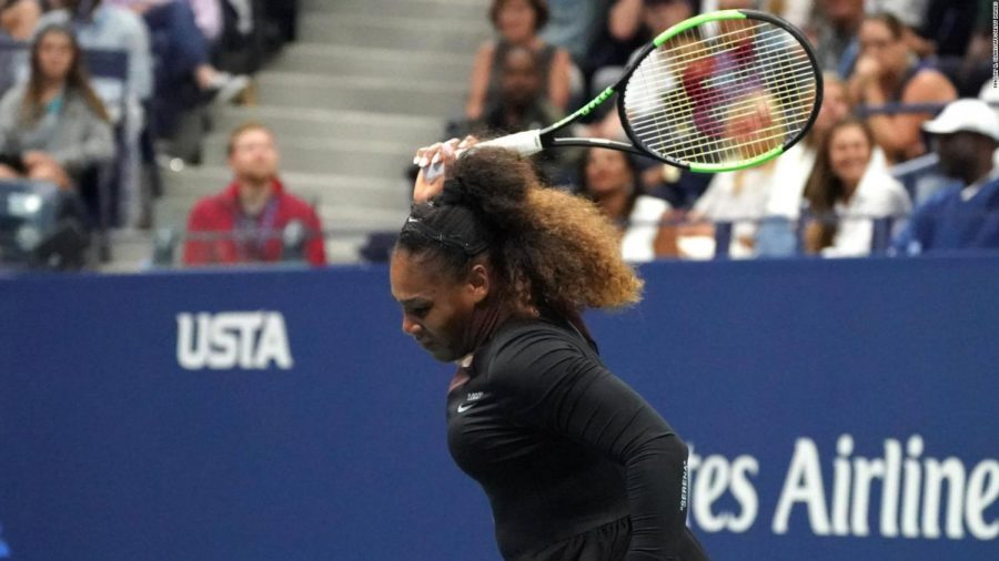 Williams+broke+her+racket+out+of+frustration+when+she+was+issued+penalties+during+the+U.S.+Open+final+match.