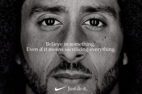 Nike's thirtieth anniversary campaign ad showcased Kaepernick as their new face.