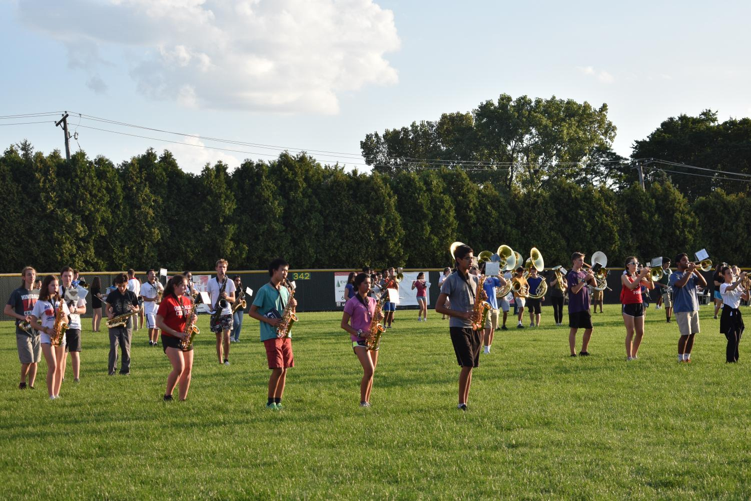 The band and color guard had practice on Tuesday, Sept. 4 in order to prepare for the first football home game on Friday, Sept. 7.