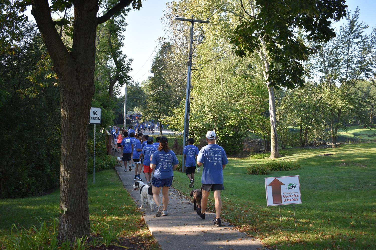 The Habitat for Humanity 5K walk/run took place on Sunday Sept. 16; participants walked or ran through the surrounding neighborhoods near the school.