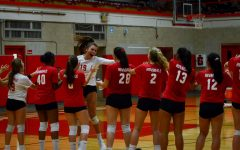 Girls Volleyball plays in first home game