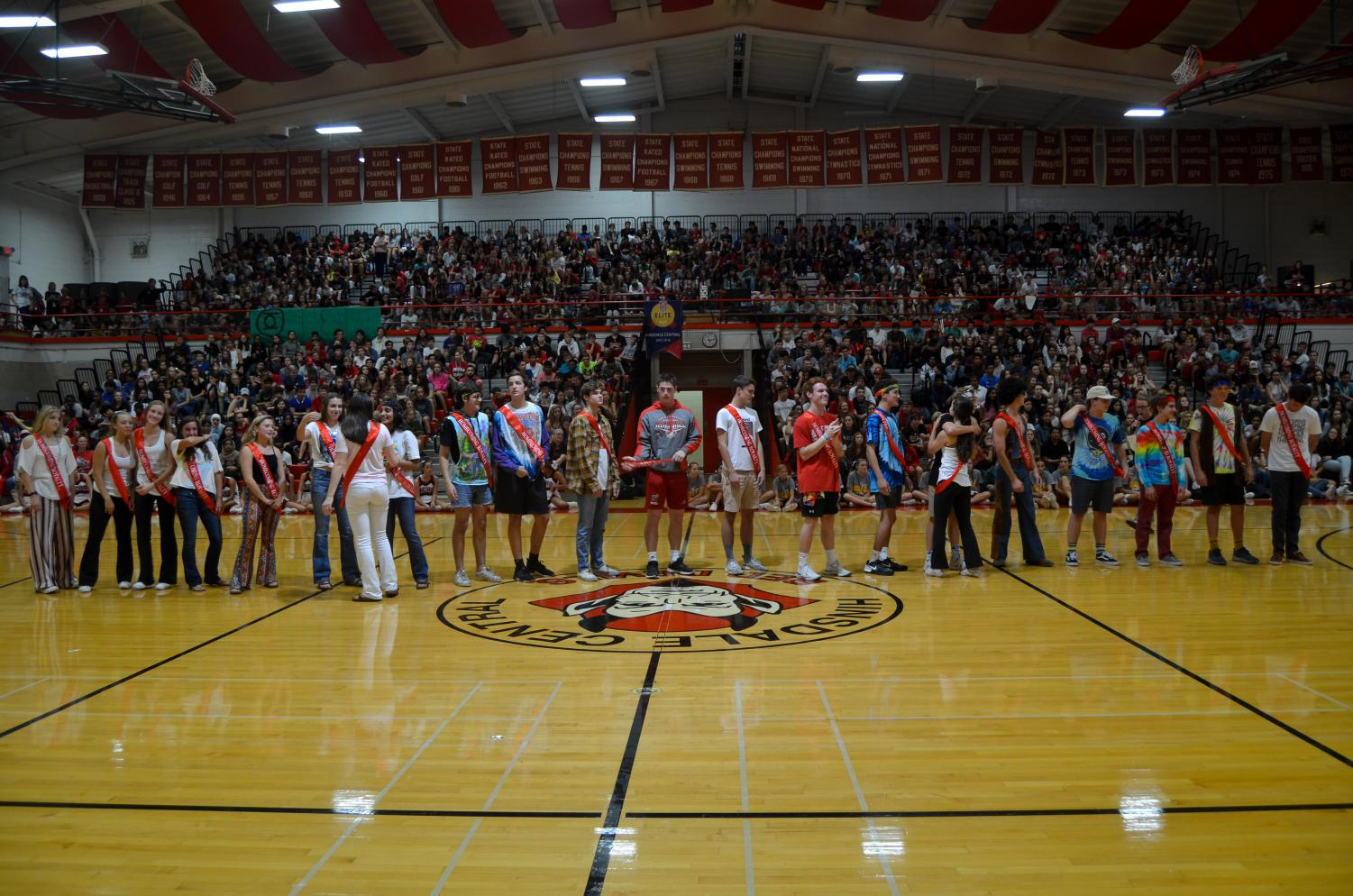 The senior students vote for 13 senior girls and 13 senior boys to make up the Homecoming Court each year. The assembly to announce this year's selection was held on Friday, Sept. 14.