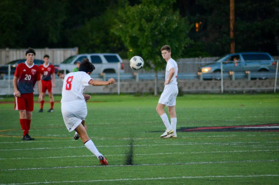 On Friday, Sept. 14 Varsity Boys Soccer played against Naperville Central on Dickinson Field. The Red Devils won with a score of 1-0.