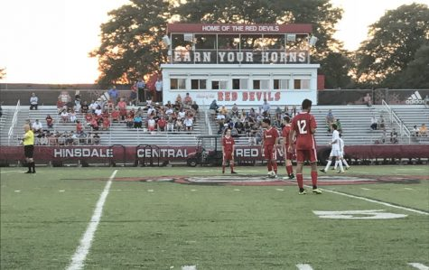The Boys Varsity Soccer Team lost 2-1 against LT while playing on Dickinson field on Thursday, Sept. 20.