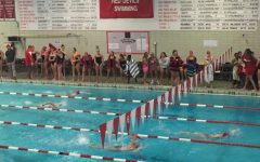Girls Swim and Dive team lose to LT