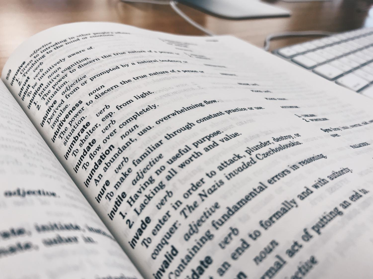 One should be inclined to carry a dictionary like the one pictured above in order to appear much smarter than those around them.