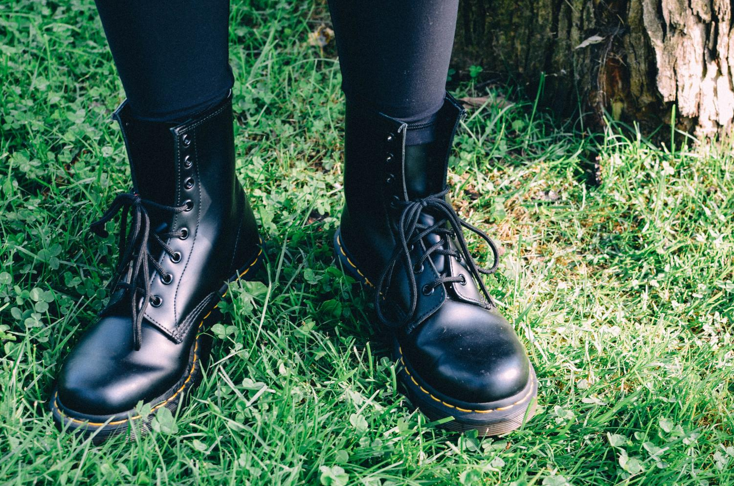 Doc Martens are the perfect fall boots, as they don't shows many signs of weathering or scuff marks.