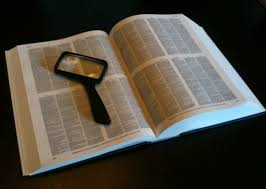 When reading the Compact Oxford Dictionary, make sure to use a magnifying glass as the words are too small for the aged human eye to comprehend.